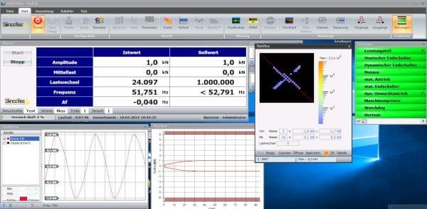Software für Resonanzprüfmaschinen
