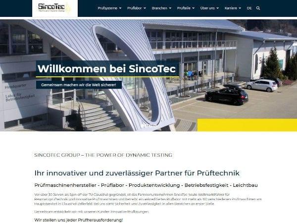 SincoTec Website